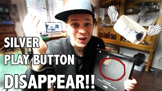 Made my Silver Play button disappear!!! Magic trick-Julien Magic
