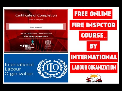 Free Online Fire Inspector Course By International Labour ...