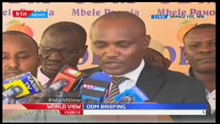 Hon. John Mbadi reacts to President Uhuru Kenyatta's utterances towards Mombasa Governor Joho