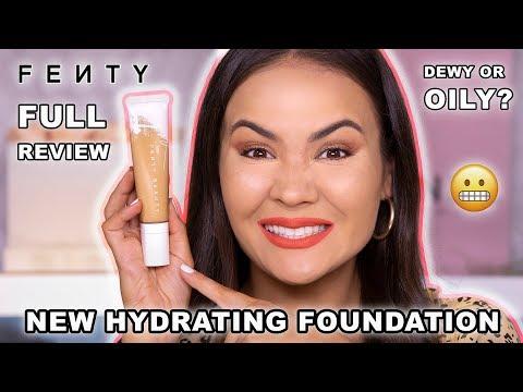 FENTY BEAUTY HYDRATING FOUNDATION REVIEW + WEAR TEST   Maryam Maquillage