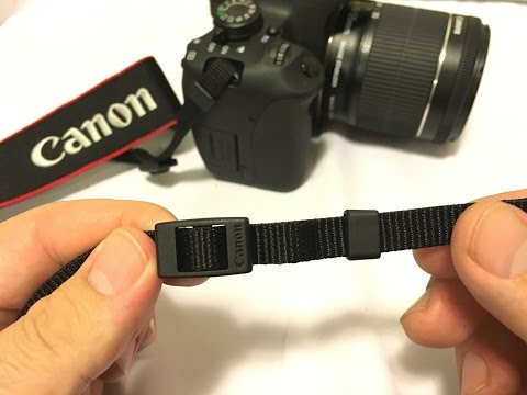 Attach a Neck strap to your DSLR camera...The Canon way!!!