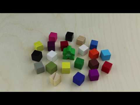 Cube, 10mm, Red video