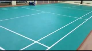 Badminton court construction service | Indoor badminton court roofing in chennai - 9841185876