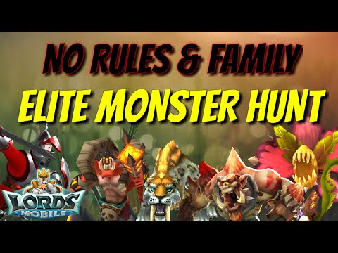 Lords Mobile - How To Monster Hunt Like A Pro! - смотреть