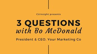 3 questions with Your Marketing Co's Bo McDonald