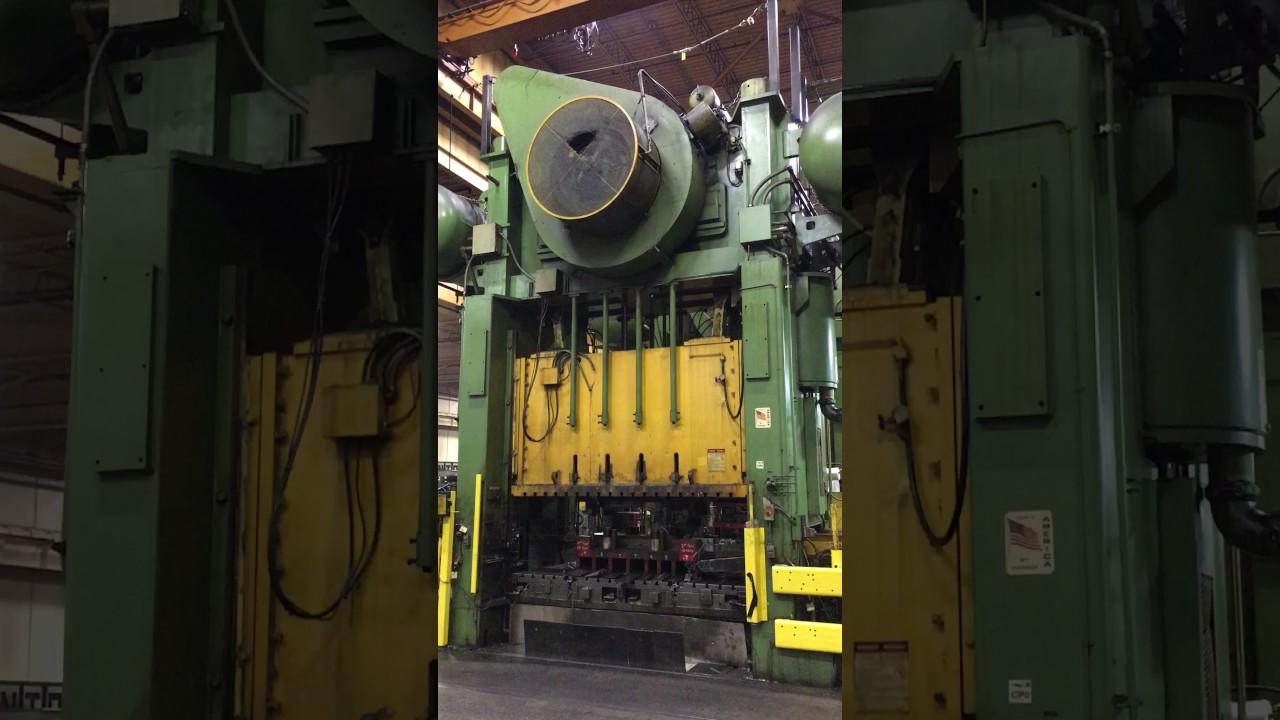 800 Ton Verson S4-800-120-60t, Straight Side Press