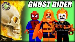 Lego Ghost Rider, Spiderman, Hobgoblin in Lego Set Spider Man: Ghost Rider Team up