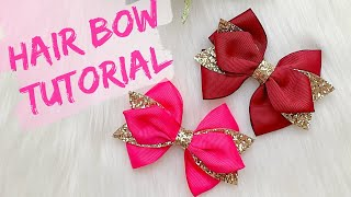 DIY Hair Bow // Easy Ribbon Bow Tutorial // How To Make Hair Bows || Miss O Crafts