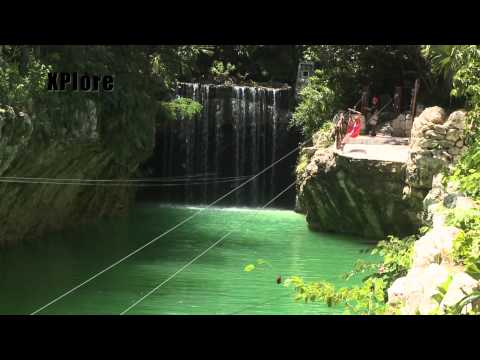 Zip Line & Cave Swimming Xplor Park Tour Cancun, Mexico