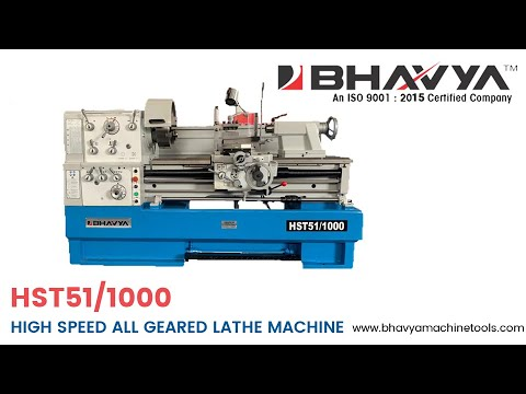All Geared High Speed Lathe Machine Model No. HST51