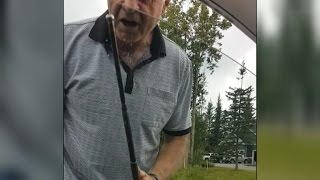 Man Attacks Car With Metal Stick In Crazy Road Rage Incident Caught On Camera