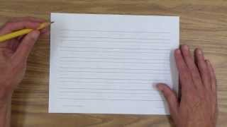 Teach Handwriting to Your Child: Preliminaries