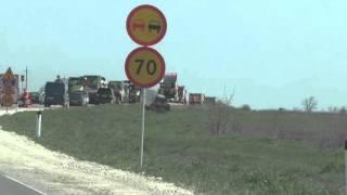 Строительство дорог. Симферополь - Керчь. Крым 2016