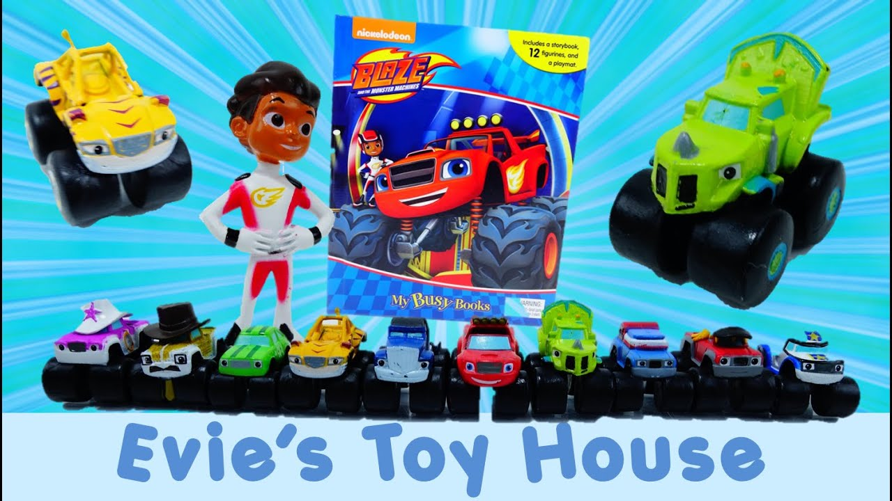 Blaze and the Monster Machines My Busy Book Review  | Evies Toy House