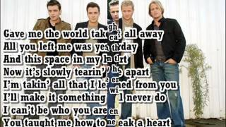 How To Break A Heart Westlife Lyrics On Screen