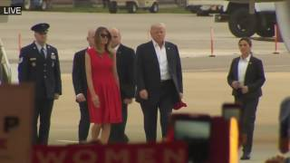 President Donald Trump and Melania Trump Arrives Melbourne Rally - The Eagle Has Landed ✔