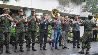 Flashmob de la Banda de Música de la V Región MIlitar
