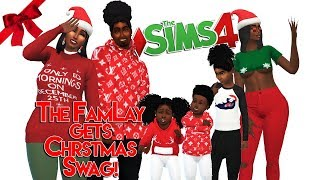 THE FAMLAY GETS CHRISTMAS SWAG! | The Sims 4