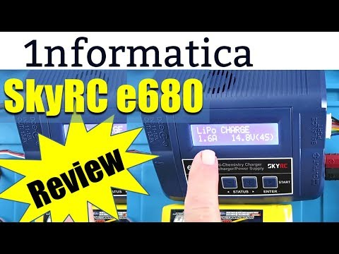 SkyRC e680 80W 8A AC/DC Balance Charger Discharger 1-6S Lipo Review
