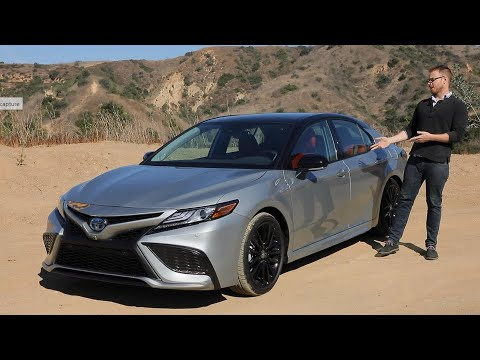2021 Toyota Camry Hybrid Test Drive Video Review