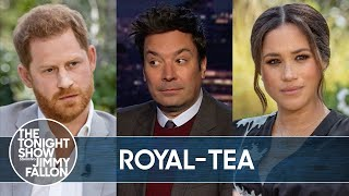 Prince Harry and Meghan Markle's Bombshell Oprah Interview | The Tonight Show Starring Jimmy Fallon