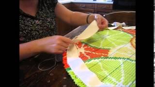 Circular rug binding tutorial