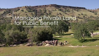 Managing Private Land for Public Benefit