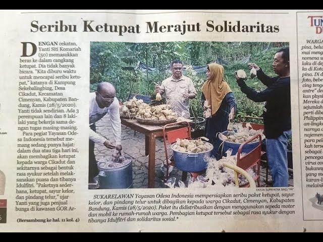 Aksi Solidaritas Sosial Berbagi Ketupat-Kelor