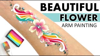 EASY Rainbow Flower Arm Paint