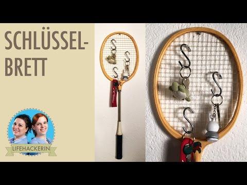 Schlüsselbrett aus Badmintonschläger | Lifehack | Aufbewahrung