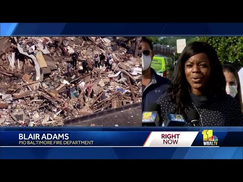 Man's body found overnight from Baltimore explosion scene