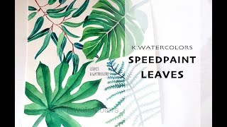 Botanical Illustration | 1 Minute Speedpaint | Leaves