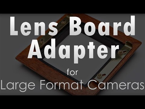 Maximize Space - Lens Board Adapter for Large Format Cameras