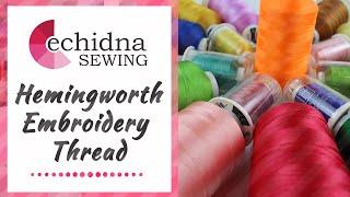 Hemingworth Machine Embroidery Thread 1008-1000m Sweet Pea