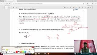 Linear Integrated Circuits Unit 2 : Linear Applications (Short Answers Questions)