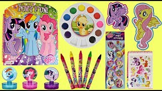 My Little Pony Activity Set with Water Color Paints & Crayons