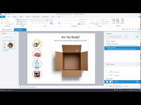 Articulate Storyline 360: Create an Interaction with a Number Variable