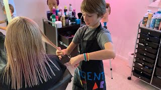 11-Year-Old Aspiring Celeb Hairstylist Runs A Hair Salon In His Parents Basement