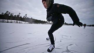 На коньках по озеру