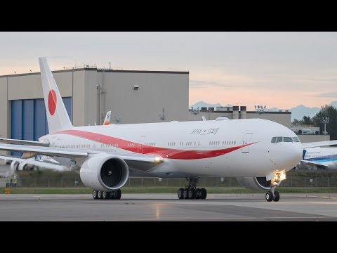 Japan Air Self Defense Force First 777-300ER First Flight @ KPAE