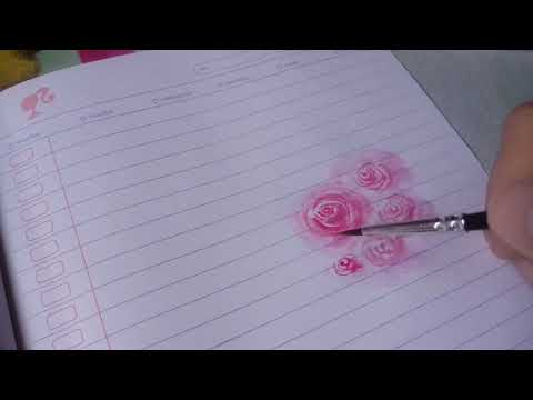 Tutorial Cara Membuat Bunga Mawar Menggunakan Cat Air смотреть