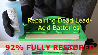 Restoring Lead Acid and Golf Cart Batteries, Liquid Regen Professional Battery Sulfate Remover