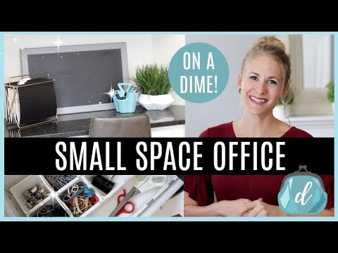 SMALL SPACE ORGANIZING 💙 Desk & Office Makeover