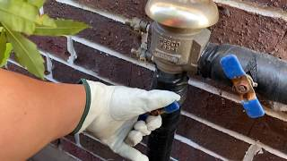 How to easily turn on an irrigation or sprinkler system after winter