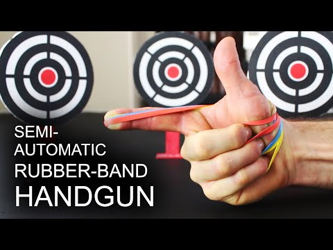 World's Simplest, Semi-Automatic, Rubber Band Handgun