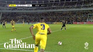 Incredible Free-kick Goal From Midfield In Malaysian FA Cup Semifinal