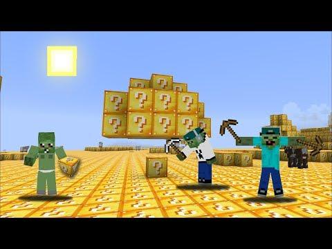 SURVIVING A WORLD OF LUCKY BLOCKS !! Minecraft Lucky Block Mod !!