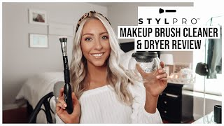 LIFE-CHANGING AMAZON AND COSTCO MAKEUP BRUSH CLEANER?! | STYLPRO MAKEUP BRUSH CLEANER REVIEW