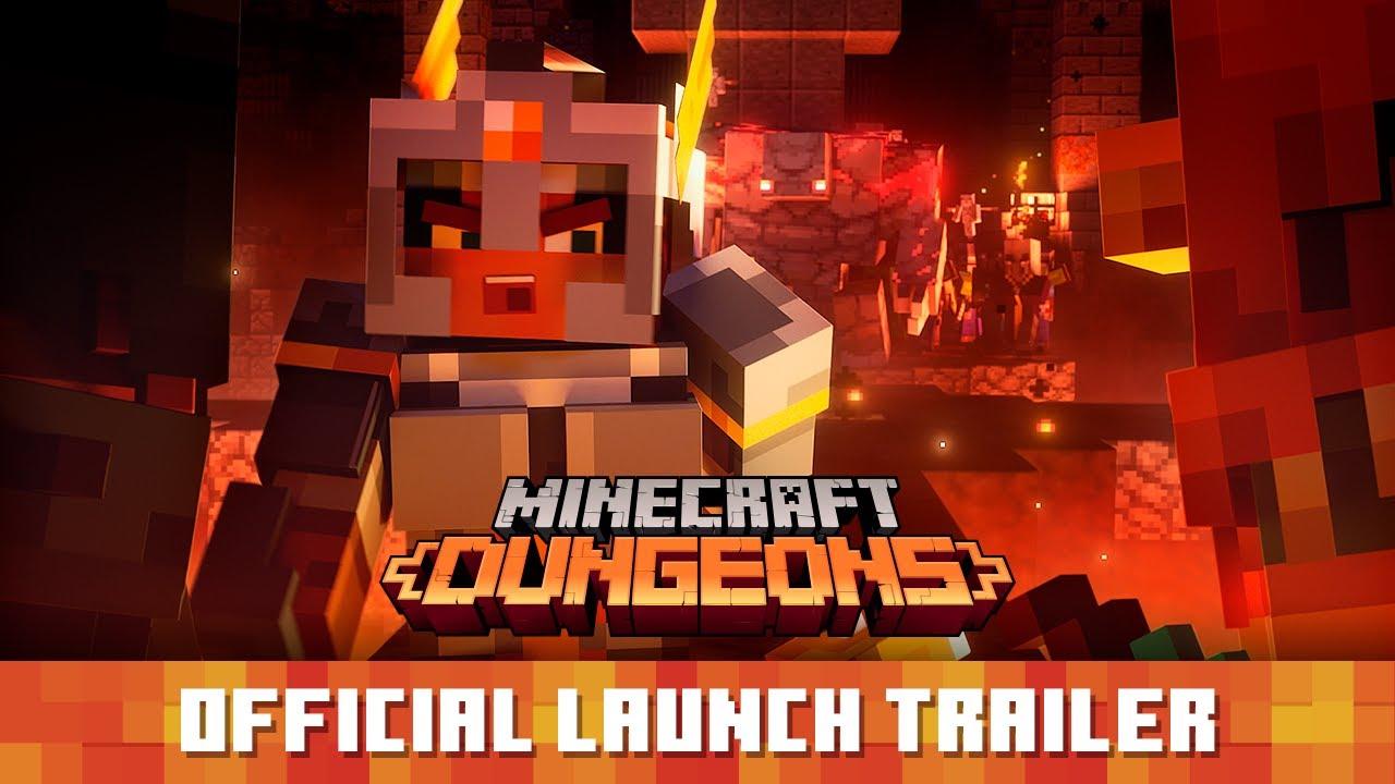 Релизный трейлер игры Minecraft Dungeons
