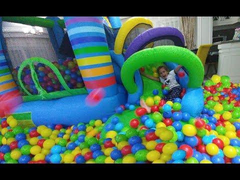 Yeni gökkuşağı zıpzıpta 4000 rengarenk top, eğlenceli çocuk videosu